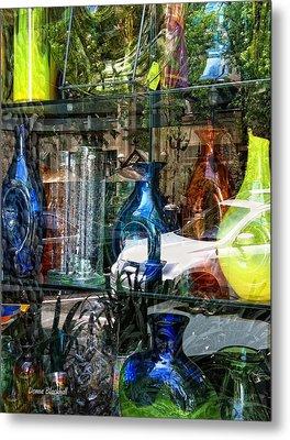 Potential Broken Glass Metal Print by Donna Blackhall