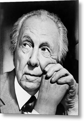 Potrait Of Frank Lloyd Wright Metal Print by Underwood Archives