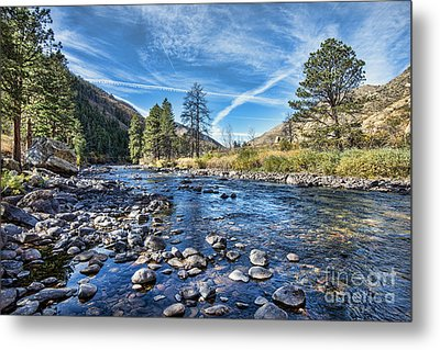 Poudre River Rocks Metal Print by Keith Ducker