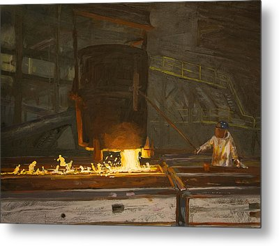 Pouring Metal Print by Martha Ressler