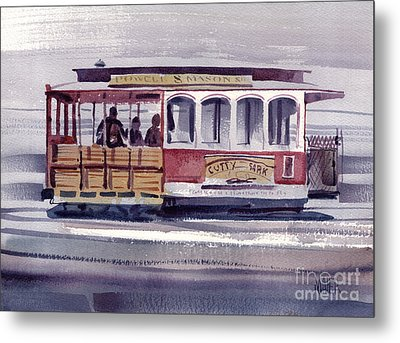 Powell And Mason Line Metal Print by Donald Maier