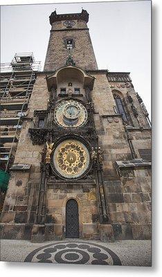Prague Astronomical Clock Metal Print by Andre Goncalves