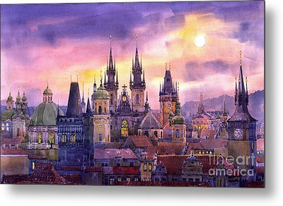 Prague City Of Hundres Spiers Variant Metal Print by Yuriy  Shevchuk