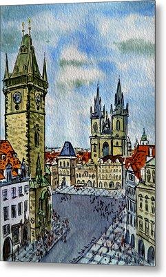 Prague Czech Republic Metal Print by Irina Sztukowski
