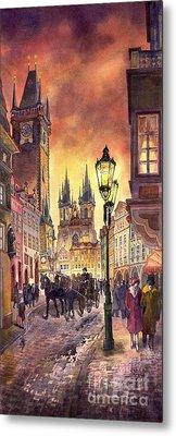 Prague Old Town Squere Metal Print by Yuriy  Shevchuk