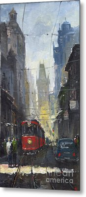Prague Old Tram 05 Metal Print by Yuriy  Shevchuk