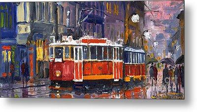 Prague Old Tram 09 Metal Print by Yuriy  Shevchuk