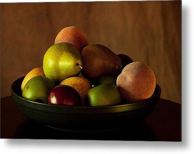 Precious Fruit Bowl Metal Print by Sherry Hallemeier