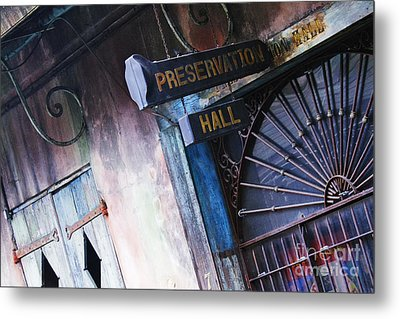 Preservation Hall Sign Metal Print by Jeremy Woodhouse
