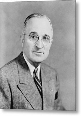 President Truman Metal Print by War Is Hell Store