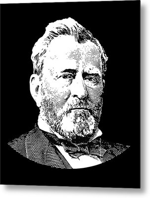 President Ulysses S. Grant Metal Print by War Is Hell Store