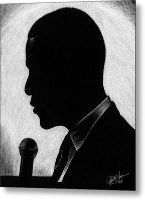 Presidential Silhouette Metal Print by Jeff Stroman