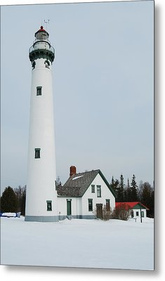 Presque Isle Lighthouse Metal Print by Michael Peychich