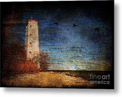 Presquile Lighthouse Metal Print by Lois Bryan