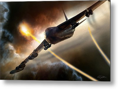Press On To Target Metal Print by Peter Chilelli