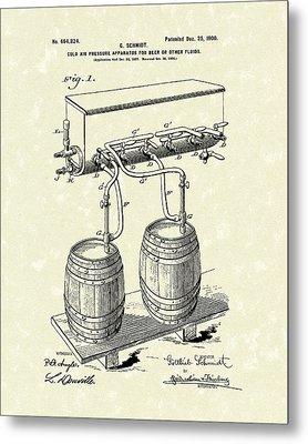 Pressure System 1900 Patent Art  Metal Print by Prior Art Design