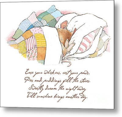 Primrose Goes To Sleep Metal Print by Brambly Hedge