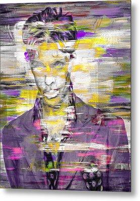 Prince Musician Digital Painting 4 Metal Print by David Haskett