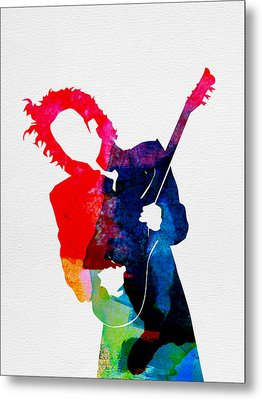 Prince Watercolor Metal Print by Naxart Studio