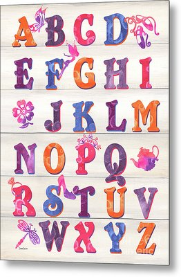 Princess Alphabet Metal Print by Debbie DeWitt