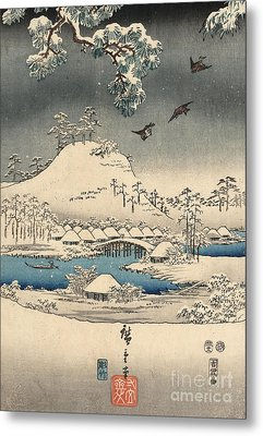 Print From The Tale Of Genji Metal Print by Hiroshige