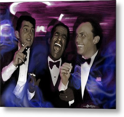 Prismatic Rat Pack Metal Print by Christine Mayfield