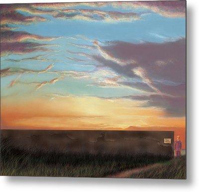 Private Sunrise.  Keep Out Metal Print by Albert Puskaric
