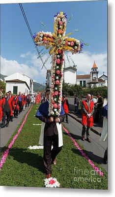 Procession In Furnas - Azores Metal Print by Gaspar Avila