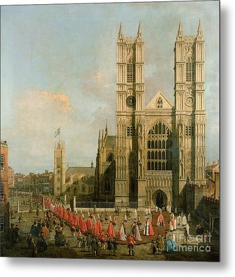 Procession Of The Knights Of The Bath Metal Print by Canaletto