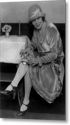 Prohibition, Miss Rhea Seated Metal Print by Everett