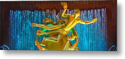 Prometheus Sculpture Metal Print by Art Spectrum