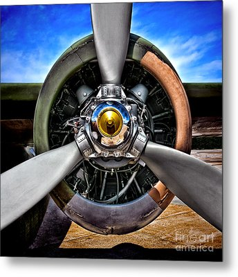 Propeller Art   Metal Print by Olivier Le Queinec