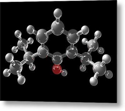 Propofol Molecule Metal Print by Laguna Design