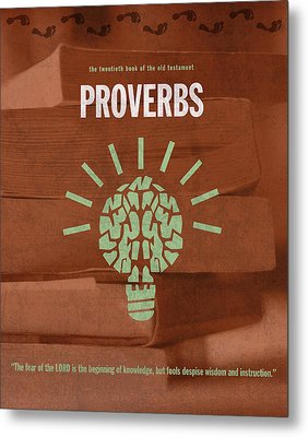 Proverbs Books Of The Bible Series Old Testament Minimal Poster Art Number 20 Metal Print by Design Turnpike
