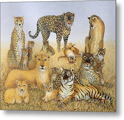 The Big Cats Metal Print by Pat Scott