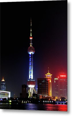 Pudong New District Shanghai - Bigger Higher Faster Metal Print by Christine Till
