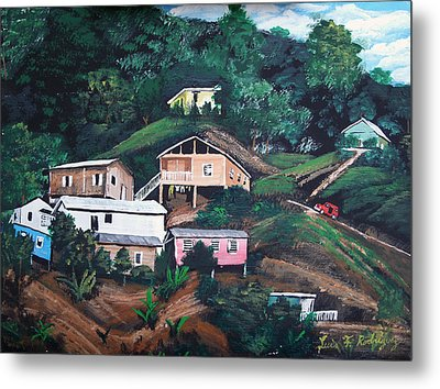 Puerto Rico Mountain View Metal Print by Luis F Rodriguez