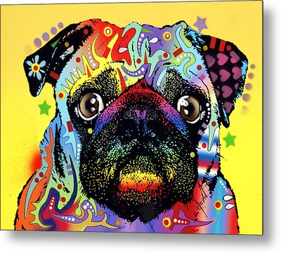 Pug Metal Print by Dean Russo