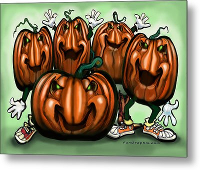 Pumpkin Party Metal Print by Kevin Middleton