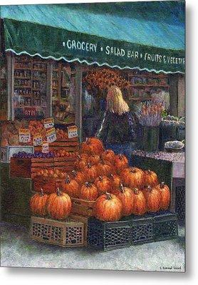 Pumpkins For Sale Metal Print by Susan Savad