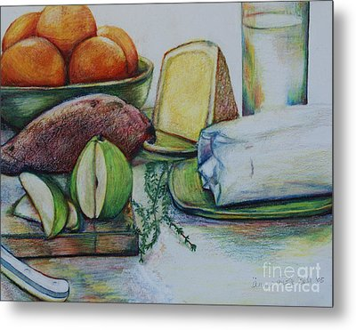 Purchases From The Farmers Market Metal Print by Anna Mize Bell