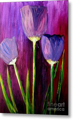 Purely Purple  Metal Print by Julie Lueders