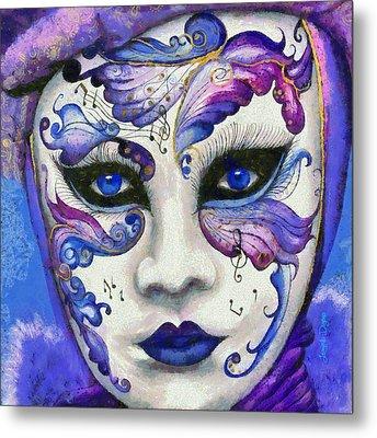 Purple Carnival - Da Metal Print by Leonardo Digenio