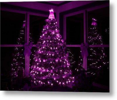 Purple Christmas Metal Print by Lori Deiter