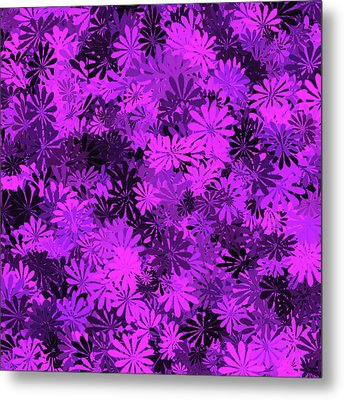 Purple Floral Pattern Metal Print by Aimee L Maher Photography and Art Visit ALMGallerydotcom