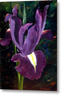Purple Iris Metal Print by Heidi Patricio-Nadon