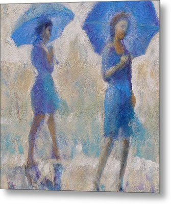 Purple Rain Metal Print by Gertrude Palmer