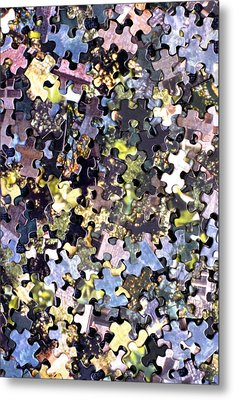 Puzzle Piece Abstract Metal Print by Steve Ohlsen