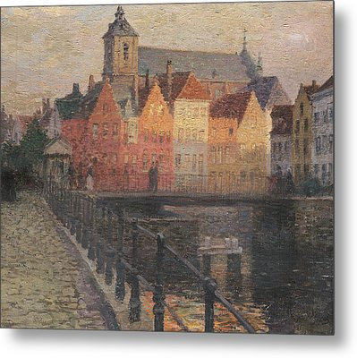 Quai De La Paille Metal Print by Paul Albert Steck