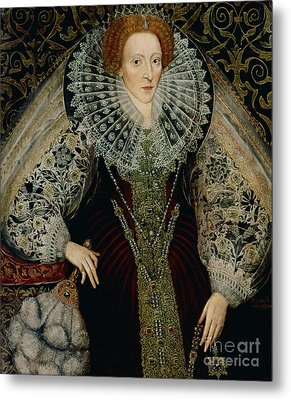 Queen Elizabeth I Metal Print by John the Younger Bettes